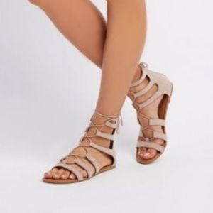charlotte russe gladiator lace up sandals size 8